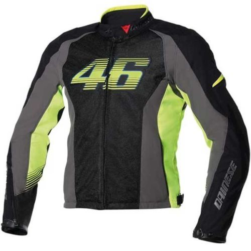 Valentino Rossi  VR46 Air Fluo Yellow Motorcycle Motorbike Jacket
