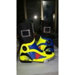 Valentino Rossi VR 46 Motorbike Racing Custom Leather Protective Boot Shoes