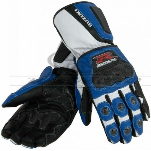 Suzuki GSXR Motorbike Racing Gloves Original Leather Motorcycle Off-Road Gloves