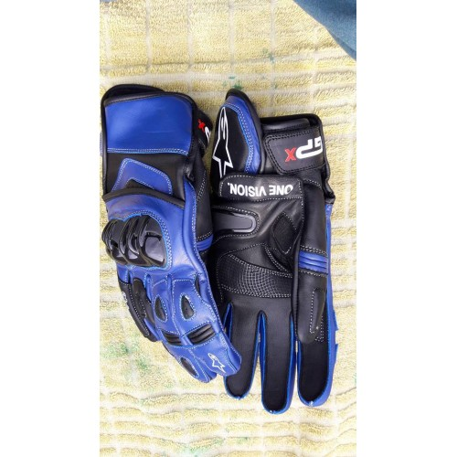 ONE VISION  MOTOGP/MOTORBIKE/MOTORCYCLE  LEATHER RACING GLOVES