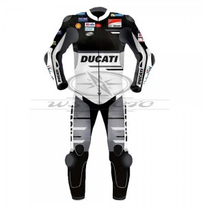 Andrea Dovizioso Black Ducati Motogp Motorcycle Black Leather Suit 2018