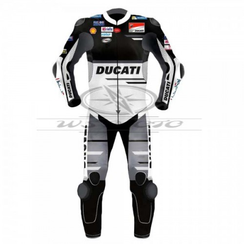 Andrea Dovizioso Black Ducati Motogp Motorcycle Black Leather Suit 2018
