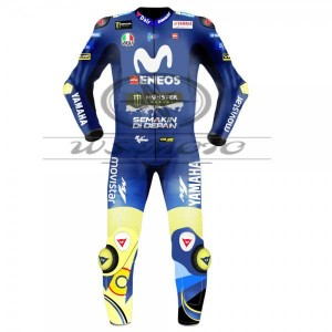 Valentino Rossi Movistar Yamaha Motogp Motorcycle Leather Suit 2018