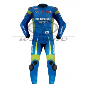 Maverick Vinales Suzuki Motogp Motorcycle Leather Suit 2015