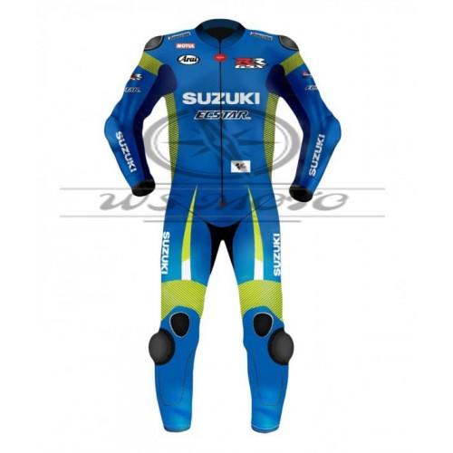 Maverick Vinales Suzuki Motogp Motorcycle Leather Suit 2015