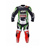 KAWASAKI NINJA  1PC MOTORBIKE 100% COWHIDE LEATHER SUIT RACING BIKER SUIT CE ALL SIZES