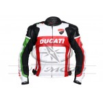 NEW  2018 DUCATI CORSE GREEN MOTORBIKE/MOTOGP/MOTORCYCLE 100% COWHIDE LEATHER JACKET