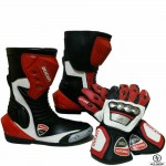 Brand New Motorcycle Cowhide Leather Shoe and Glove Racing Motorbike Boot GP
