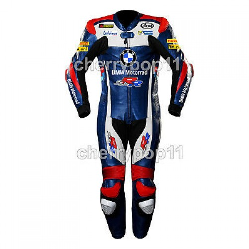 Bmw Racing 1 and two piece custom made Motorbike Racing Leather Suit