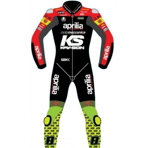 Aprilia Racing Rapidi Motogp Motorbike Leather Racing Suit 2019 Model All Size