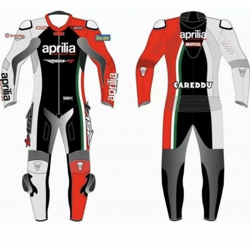 Aprilia Leather Motorcycle Leather Racing Suit CE Approved 1 PC 2 PC