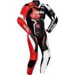 Aprilia Leather Men CE Protective Armour Motorcycle Street Racing Jacket Suit