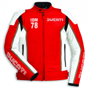 Ducati IOM 78 C1 Leather Mens Motorbike Motorcycle Jacket Isle Of Man Red SALE