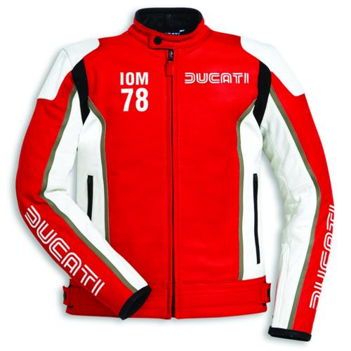 Ducati IOM 78 C1 Leather Mens Motorbike Motorcycle Jacket Isle Of Man Red SALE