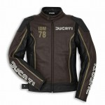 Ducati IOM 78 C1 Leather Mens Motorbike Motorcycle Jacket Isle Of Man Brown SALE