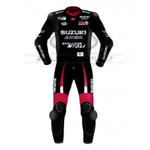 Maverick Vinales Black & Red Motogp Motorcycle Leather Suit 2016
