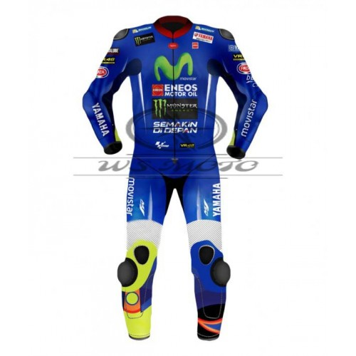 Valentino Rossi Movistar Yamaha Motogp Motorcycle Leather Suit 2017- 2018